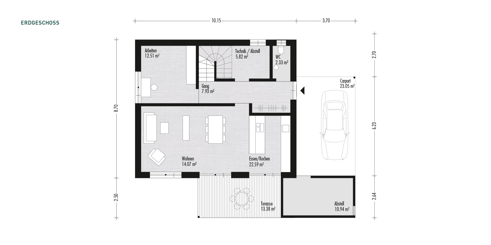 alpina optima 5 funktionelles einfamilienhaus aus holz alpina haus. Black Bedroom Furniture Sets. Home Design Ideas